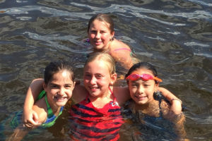 children in lake - camp hadar - jewish day camp New Hampshire